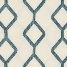 Turquoise/Ivory Modern Drapery and Upholstery Fabric by Kravet