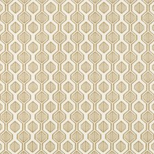 Brown/Ivory Geometric Drapery and Upholstery Fabric by Kravet
