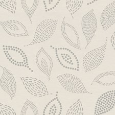 Oyster Botanical Drapery and Upholstery Fabric by Kravet