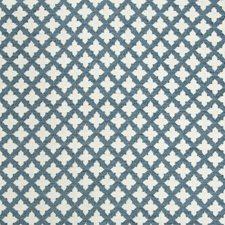 Blue/White Diamond Drapery and Upholstery Fabric by Kravet