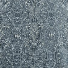 Blue/Ivory Paisley Drapery and Upholstery Fabric by Kravet