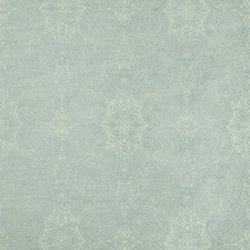 Turquoise/Light Green Damask Drapery and Upholstery Fabric by Kravet