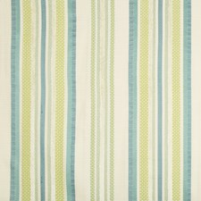 Ivory/Blue/Green Stripes Drapery and Upholstery Fabric by Kravet