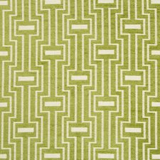 Green/White Geometric Drapery and Upholstery Fabric by Kravet