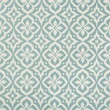 White/Blue Medallion Drapery and Upholstery Fabric by Kravet