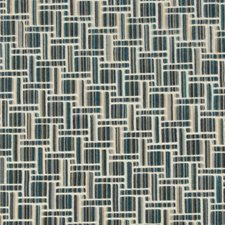 Peacock Geometric Drapery and Upholstery Fabric by Kravet