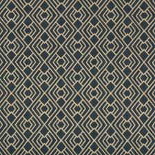 Indigo/Beige Diamond Drapery and Upholstery Fabric by Kravet
