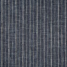 Indigo/Dark Blue/White Stripes Drapery and Upholstery Fabric by Kravet