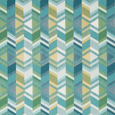 Teal/Yellow/Green Modern Drapery and Upholstery Fabric by Kravet