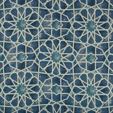 Blue/Turquoise/Ivory Ethnic Drapery and Upholstery Fabric by Kravet