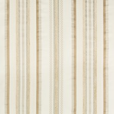 Beige/Gold Stripes Drapery and Upholstery Fabric by Kravet