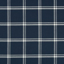 Indigo/White Plaid Drapery and Upholstery Fabric by Kravet