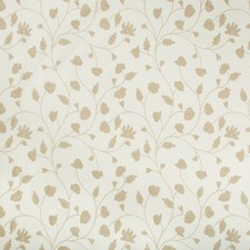 White/Beige Botanical Drapery and Upholstery Fabric by Kravet