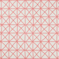 Pink Geometric Drapery and Upholstery Fabric by Kravet