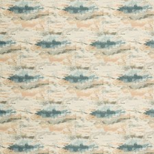 Camel/Light Blue/Ivory Contemporary Drapery and Upholstery Fabric by Kravet