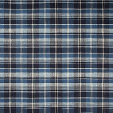 Dark Blue/Indigo/White Plaid Drapery and Upholstery Fabric by Kravet