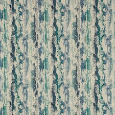 Ivory/Blue/Turquoise Contemporary Drapery and Upholstery Fabric by Kravet