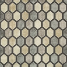 Grey/Slate Geometric Drapery and Upholstery Fabric by Kravet