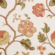 Mandarin Botanical Drapery and Upholstery Fabric by Kravet