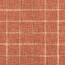 Coral/Ivory/Pink Plaid Drapery and Upholstery Fabric by Kravet