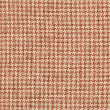 Coral/White Check Drapery and Upholstery Fabric by Kravet