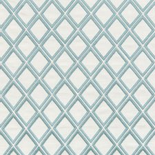 White/Green Geometric Drapery and Upholstery Fabric by Kravet