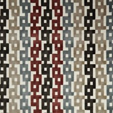 Paprika/Grey Geometric Drapery and Upholstery Fabric by Kravet