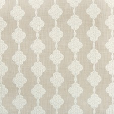Ivory/White Geometric Drapery and Upholstery Fabric by Kravet