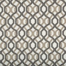 Ivory/Beige/Grey Geometric Drapery and Upholstery Fabric by Kravet