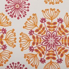 Flame Floral Medium Drapery and Upholstery Fabric by Duralee