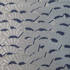 Blu Jacquard Lampass Drapery and Upholstery Fabric by Scalamandre