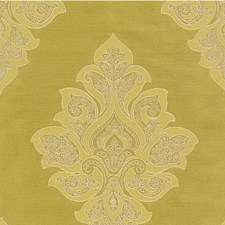 Citron Damask Drapery and Upholstery Fabric by Kravet