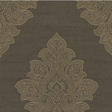 Grey Damask Drapery and Upholstery Fabric by Kravet