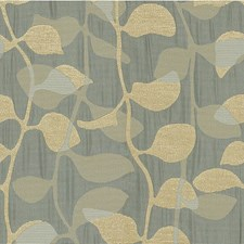 Blue/Grey Botanical Drapery and Upholstery Fabric by Kravet