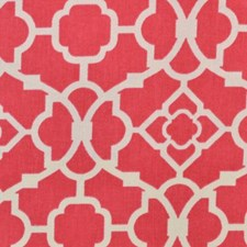 Pink Geometric Drapery and Upholstery Fabric by Duralee