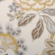 Amber Floral Large Drapery and Upholstery Fabric by Duralee
