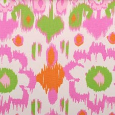 Rose/Green Abstract Drapery and Upholstery Fabric by Duralee