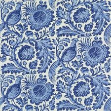 Chambray Birds Drapery and Upholstery Fabric by Duralee