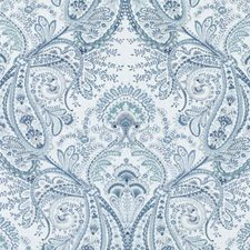 Sea Green Paisley Drapery and Upholstery Fabric by Duralee