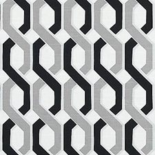 Grey/Black Abstract Drapery and Upholstery Fabric by Duralee