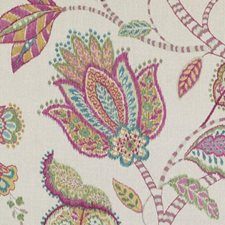 Natural/Pink Ethnic Drapery and Upholstery Fabric by Duralee