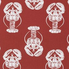 Red Animal Drapery and Upholstery Fabric by Duralee