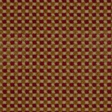 Red/Gold Drapery and Upholstery Fabric by Schumacher