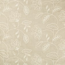 Beige/Ivory Botanical Drapery and Upholstery Fabric by Kravet