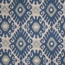 Indigo Flamestitch Drapery and Upholstery Fabric by Trend