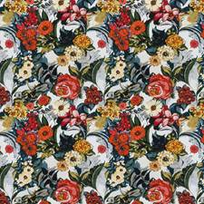 Summer Floral Drapery and Upholstery Fabric by Vervain
