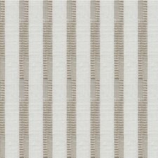 White/Taupe Stripes Drapery and Upholstery Fabric by Kravet