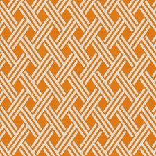 Tangerine Lattice Drapery and Upholstery Fabric by Trend