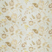 Aqua Floral Drapery and Upholstery Fabric by Fabricut