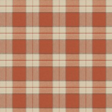 Persimmon Check Drapery and Upholstery Fabric by Fabricut